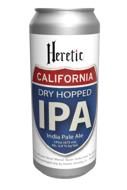 California IPA beer Can Linked to beer info Page