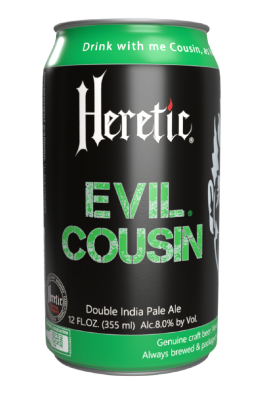 Evil Cousin Beer can linked to beer details page