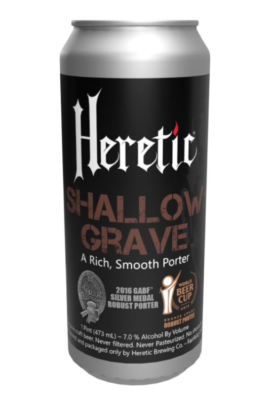 Shallow grave beer can linked to beer info page