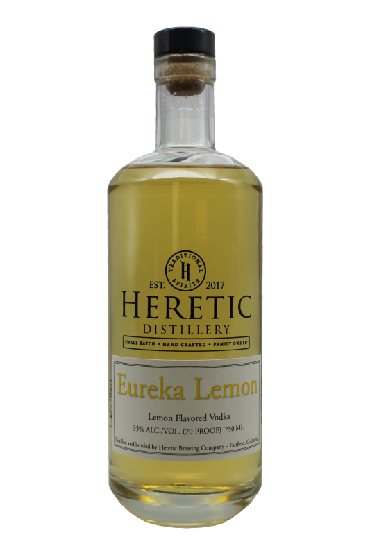 Eureka Lemon Vodka bottle linked to details about vodka page